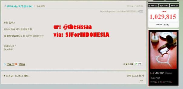 SUNGMIN POST IT AA2 HIS BLOG!!